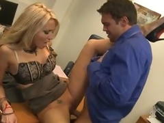 Gorgeous Blonde MILF Jessica Drake Acquires Fucked Hard Around The Office