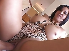 Hot milf Cynthia Pendragon squats soaked wet crack ontop on large man bone riding load and long