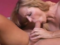 Nicole Moore slathers dick and receives it buried in snatch
