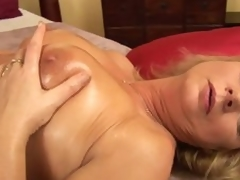 Horny aged woman Rosalyn pleases herself