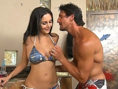 Hawt Ava Addams was invited by Tommy Gunn to tan at his glamorous swimming pool