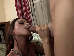 The breasty milf Ariella Ferrera has come to visit her son and accidentally got to another flat where met a well hung guy that worshipped her big boobs and fed with the hard stick