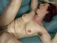 Debra is a fuck hungry red-haired older woman with bushy pussy and hairy armpits. That babe gets her fur pie fucked hard by thick dicked boy. That babe takes his young sturdy pecker unfathomable in her love tunnel previous to that guy shoot discharges his load