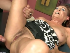 Lupita is one excited as hell older woman with soaked shaggy pussy. This babe spreads for youthful dude and takes his hard jock in her eager vagina. See him drill oldies cookie like theres no tomorrow