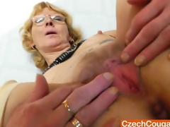 Blondie mother gapes and copulates her fuck gap