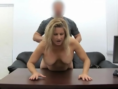 Blond milf amateur drilled in her horny twat
