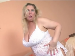 Overweight mature blonde models lace underware