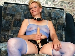 Donna was so lascivious - that babe thought she'd finally get to wear her belt on sex-toy and fuck some sexy girl. That babe was so desirous that when we got to her place, we saw this oldie wanking her plastic cock. We couldn't allow such a naughty deed to go unpunished. We