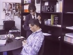 Hairy Brunette hair Aged Fucks an Employee In Her Office