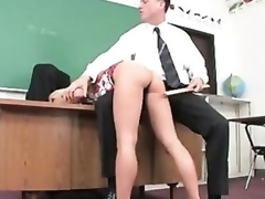 Moist schoolgirl captured and fucked by lustful mature stud
